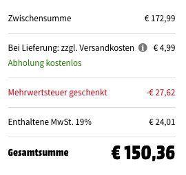 Sonos Play:1 Multimedia Lautsprecher für 150,36€ (statt 163€) dank Media Markt MwSt Aktion
