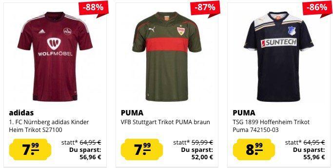 Fußball Trikots ab je nur 5,99€ zzgl. VSK bei SportSpar