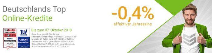 Knaller! Smava Kredit über 1.000€ und nur 947,52€ zurückzahlen dank  0,4% Jahreszins!