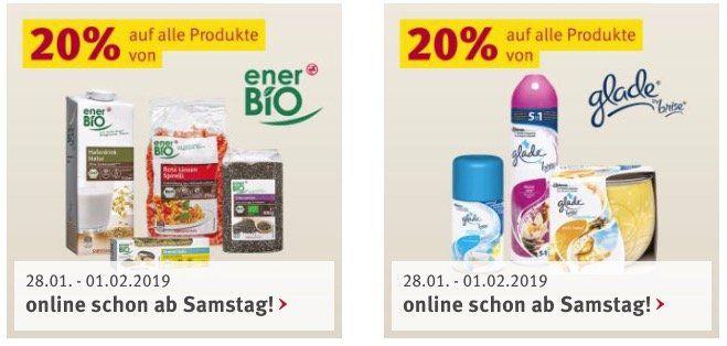 Rossmann: aktuelle Rabatt Aktionen mit u.a. 20% auf Tempo und 20% auf ener Bio Produkte