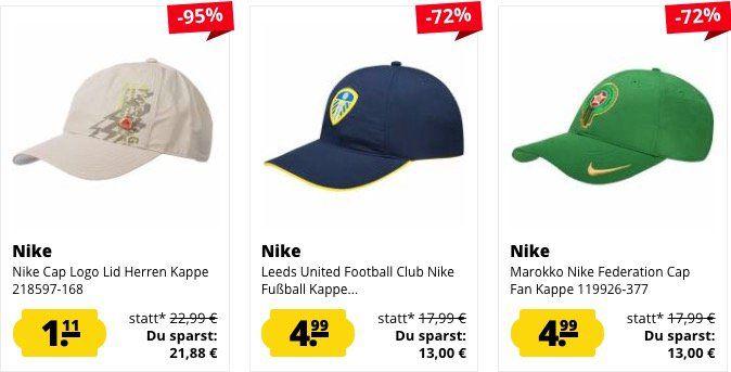 Nike Caps ab je nur 1,11€ + 3,95€ VSK