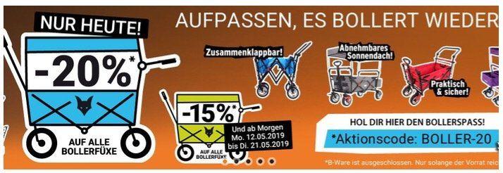 Tipp   20% Rabatt auf Fuxtec Bollerwagen   z.B. FX CT700 für 135,20€ (statt 169€)
