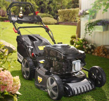 Brast BRB RM 20196 Power 4 1 selbstfahrender Rasenmäher mit 51 cm 6PS für 249€ (statt 349€)
