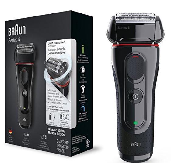 Braun 5030s Elektrorasierer + EN 10 Ohr  und Nasenhaartrimmer für 69,90€ (statt 84€)