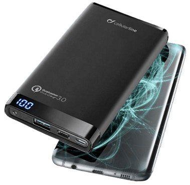 CELLULAR LINE Freepower Manta 8000 Pro Powerbank mit 8000 mAh für 25€ (statt 50€)