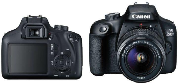 Canon EOS 4000D + 18 55mm Objektiv   Einsteiger DSLR für 279€ (statt 357€)