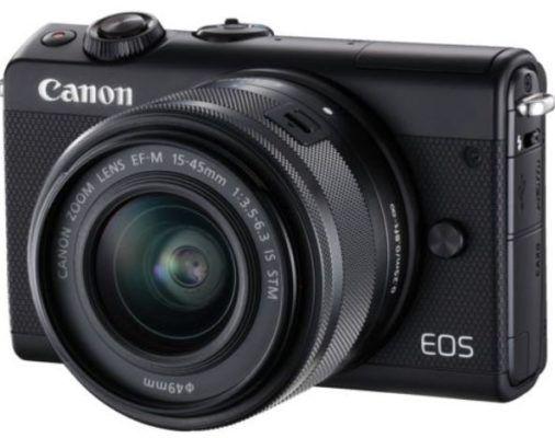CANON EOS M100 Kit Systemkamera 24.2 Megapixel + 16GB Speicherkarte + Fronthülle für 249€ (statt 352€)