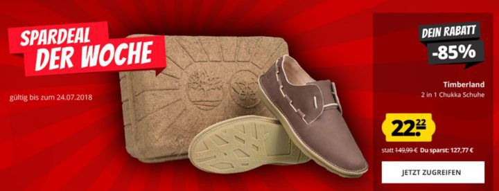 Timberland Convertible Chukka 2 Herren Ledersneaker für 26,17€ (statt 58€)