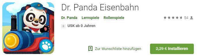 Dr. Panda: Eisenbahn (Android/iOS) kostenlos statt 2,29€