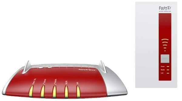 AVM FRITZ!Box 7490 + FRITZ!WLAN Repeater 1750E für 199€ (statt 233€)