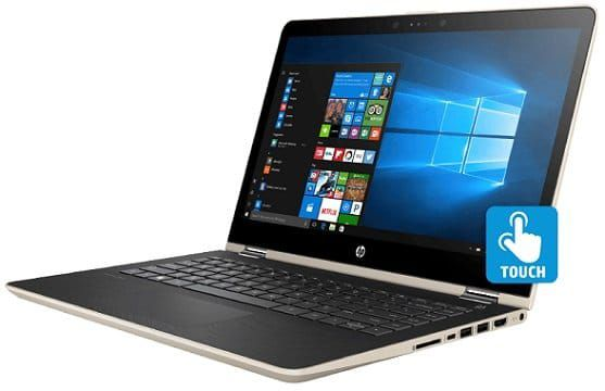 HP Pavilion x360 14 ba030ng, Convertible mit 14, i3, 8GB RAM, 1TB HDD, 128GB SSD in Silk Gold ab 599€ (statt 799€) + gratis Office 365