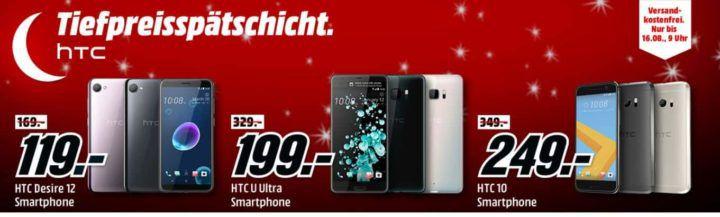 Media Markt HTC Tiefpreisspätschicht   Smartphones zu Top Preisen