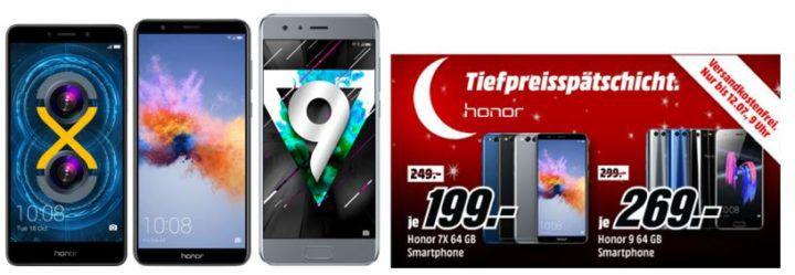 Media Markt Honor Tiefpreisspätschicht   z.B. HONOR 6X DualSIM 32 GB für 149€ (statt 184€)
