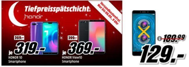 Media Markt Honor Tiefpreisspätschicht   z.B. HONOR 6X DualSIM 32 GB für 129€ (statt 166€)