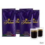 Wieder da: 4kg Grand Maestro Italiano Celeste Kaffeebohnen + 2 doppelwandige Gläser für 29,99€ (statt 56€)