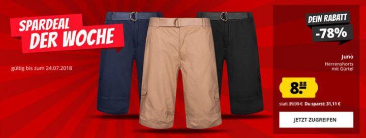 Juno Herren Cargo Shorts mit Gürtel Ripstop ab 8,88€