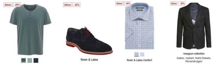 Galeria Kaufhof Dienstag Angebote: heute 20% Rabatt auf ausgewählte Eigenmarken der Herren , Kinder  & Sportbekleidung (inkl. Schuhe)