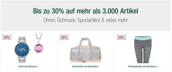 Galeria Kaufhof Sonntagsangebote   bis zu 30% Rabatte auf mehr als 3.000 Angebote und mehr