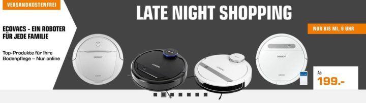 Saturn Ecovacs Late Night Saugroboter Sale: z.B. ECOVACS DEEBOT M88 für 288€ (statt 349€)