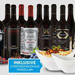 Promo: 12 Flaschen italienischer Top Rotwein + 2 gratis Pastaschalen für 74,94€