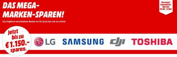 Media Markt Mega Marken Sparen: günstige Artikel von LG, Samsung, DJI und Toshiba