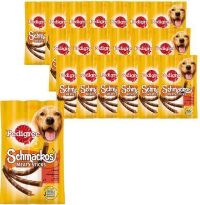 Pedigree Schmackos Meaty Sticks mit Rind 30 x 3 Stück für 39,79€
