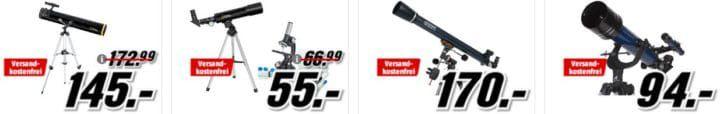 Media Markt Ferngläser und Teleskop Aktion zur Mondfinsternis: z.B. CELESTRON ExploraScope für 85€ (statt 104€)