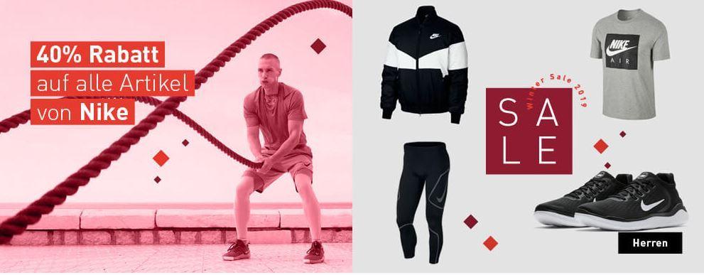 MySportswear: 40% auf die Marken NIKE und Under Armour + kostenloser Versand und Rückversand