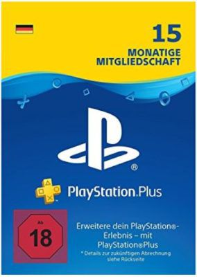 TOP! PlayStation Plus Card (15 Monate) für 39,99€ (statt 63€) [Prime]