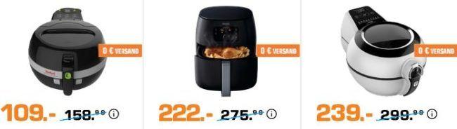 Saturn Late Night: günstige Airfryer und Fritten   z.B. PHILIPS HD9216/40 Airfryer für 99€ (statt 153€)