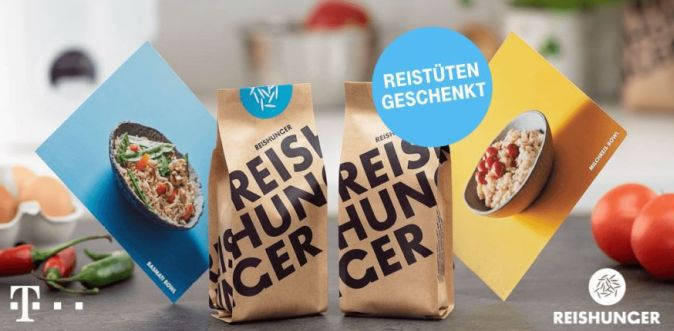 Nur für Telekom Kunden: 2x Reis von Reishunger gratis