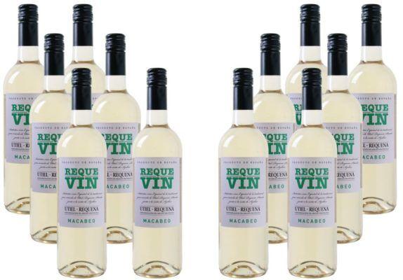 Bodegas Coviñas Requevin Macabeo Weißwein 12 Flaschen für 39,96€