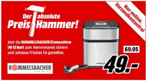 ROMMELSBACHER IM 12 4 in 1 Eismaschine für 49€