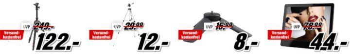 Media Markt Foto Late Night: z.B. HAMA Trekking Duo Carbon Dreibein Stativ für 122€ (statt 249€)