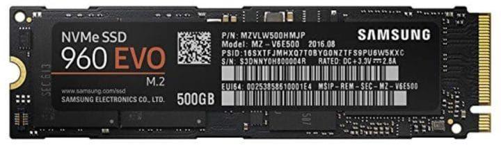 Samsung 960 EVO 500 GBSSD NVMe M.2 für 119€ (statt 160€)