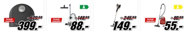 Media Markt Staubsauger Aktion: z.B. CLATRONIC BS 1307 A Akkusauger mit Stiel für 59€ (statt 86€)