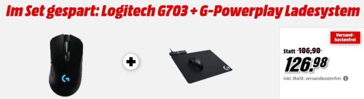Logitech G703 Gamer Maus + G Powerplay Ladesystem für 126,98€ (statt 185€)