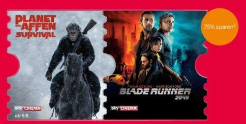 Sky Cinema Ticket bis Ende Oktober nur 7,99€ (statt 30€) – nur Neukunden