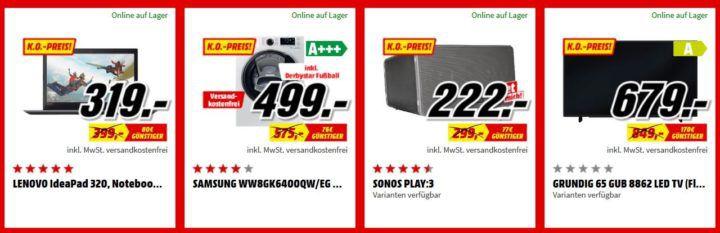 Media Markt FAN OUTLET Special: z.B. SONY KD 65XE7005 65 Zoll UHD TV für 899€ (statt 997€)