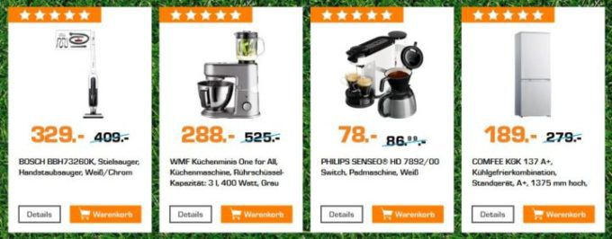 Saturn Startelf Sale: z.B. PKM A+NF Side by Side Kühlkombie für 499€