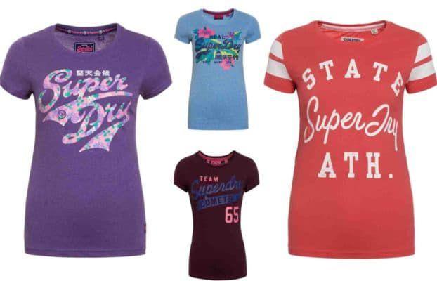 Superdry Damen T Shirts   38 Modelle bis XL für je 11,95€