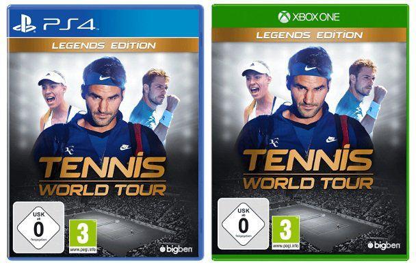 Tennis World Tour (Legends Edition) für Xbox One und PS4 für 57€ (statt 70€)