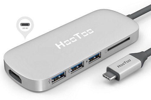 HooToo USB C Hub mit drei USB3 Anschlüssen, 4K HDMI, SD Kartenleser in Silber für 33,98€ (statt 40€)