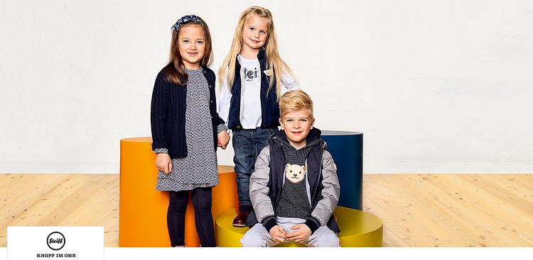 Steiff Kinder  und Babymode bei vente privee   z.B. Cardigan Strickjacke für 25,90€ (statt 41€)
