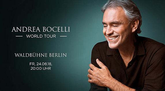 Andrea Bocelli Live   Tickets bei Vente Privee ab 60€ (statt 100€)