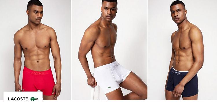 Lacoste Unterwäsche, Hosen und Shirts bei Vente Privee   z.B. Boxershort für 9,99€
