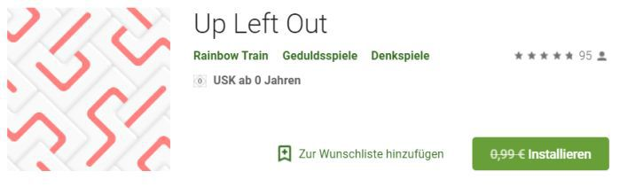 Up Left Out (Android) gratis statt 0,99€