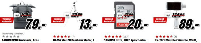 Media Markt Foto Late Night: z.B. HAMA Star 20 Dreibein Stativ für 13€