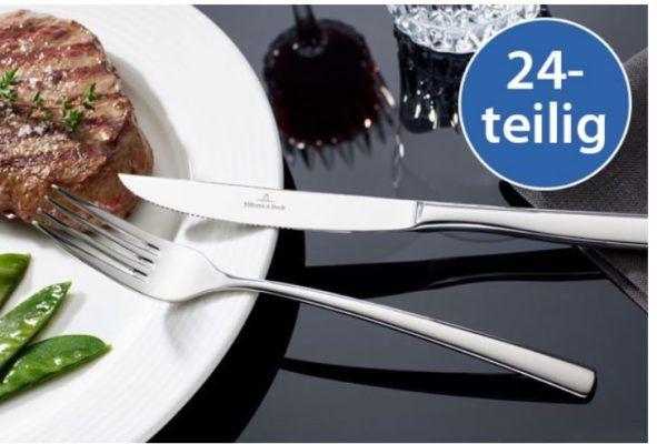 Villeroy & Boch Piemont Steakbesteck 24tlg. Spülmaschinenfest Edelstahl für 44,99€ (statt 76€)