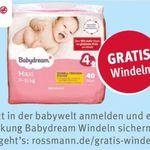 Kostenlose Windeln für Rossmann Babywelt Anmeldung